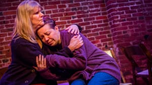 Commendable work: Marcia Ferguson and Amanda Schoonover in '12 Chairs.' (Photo by Ashley Smith/Wide-Eyed Studios.)