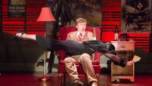 """Not what I meant by """"ice-cold blonde"""": Matt Leisy and Karen Peakes in """"The 39 Steps"""" (photo by Mark Garvin)"""