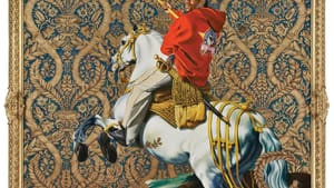 'Equestrian Portrait of the Count Duke Olivares' by Kehinde Wiley. (Image courtesy of Rubell Family Collection, Miami)
