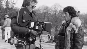 Behind the scenes of the original 'Rocky': Steadicam inventor Garrett Brown on the set with Sylvester Stallone. (Image courtesy of Garrett Brown.)