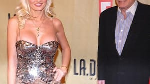 Hefner with Holly Madison: an endless adolescent dream. (Photo via Creative Commons/Wikimedia.)
