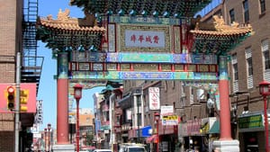 Philadelphia's Chinatown has been squeezed by redevelopment projects since the 1960s. (photo by Beyond My Ken, via wikimedia.org)
