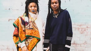 Rasheedah Phillips (left) and Camae Ayewa (right) form Black Quantum Futurism. (Photo by Chris Stitch.)