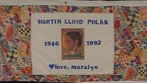 Matrty's patch from the AIDS Quilt: He'd never been tested.