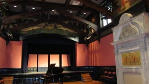More a living room than an auditorium: the Helen Corning Warden Theater at the Academy of Vocal Arts.