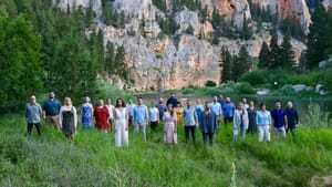 The singers of The Crossing get back to nature with 'A Native Hill.' (Photo courtesy of The Crossing.)