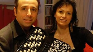 Jacques and Corrine Pellarine have accordion, will (and did) travel. (Photo courtesy of A la Maison.)