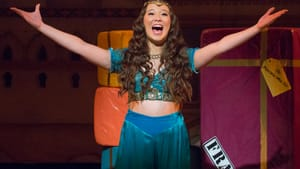 Samantha Funk sings her heart out as the unfortunately named Princess Mai Tai. (Photo by Mark Garvin.)