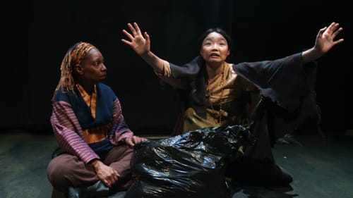 Haunting openness: Cathy Simpson and Claris Park in 'Among the Dead.' (Photo courtesy of Theatre Exile.)