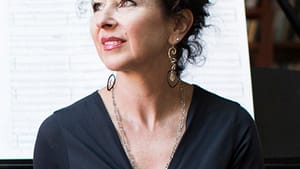 Andrea Clearfield has been hosting The Salon for 35 years. (Photo by Ryan Collerd, courtesy The Pew Center for Arts & Heritage.)