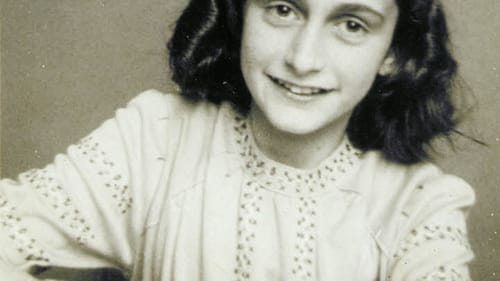 A relatable figure for young readers: Anne Frank in her 1941 school photograph. (Image via Wikimedia Commons.)