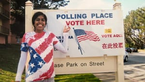 A young Christina Anthony was excited to vote for the first time in 2008. (Image courtesy of the writer.)