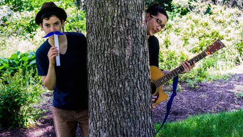 Ants on a Log already has a following among Philly's small music lovers, but the pair's message also matters. (Photo courtesy of FringeArts.)