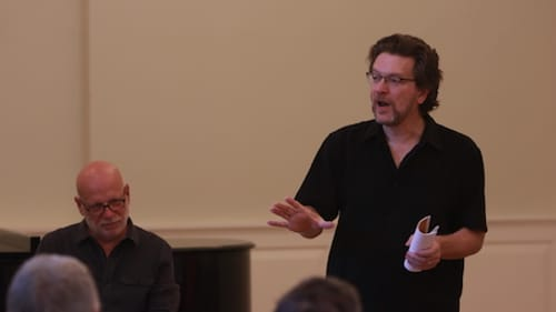 Smith's composition highlights the choir's male voices. (Photo courtesy of the Crossing.)