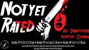 'Not Yet Rated' blends comedy, horror, and cinema with improv theater. (Image by Karen Coleman-Hinners)