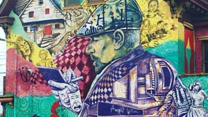 The August Wilson mural in West Philadelphia. (Photo by Patrice K. Armstead.)