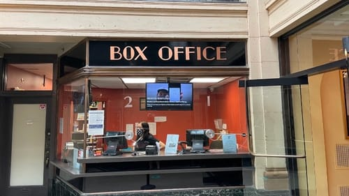 Some of the rules are changed, but the box office is opening back up. (Photo by Stephen Silver.)