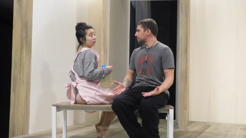 On a dangerous quest for perfection: Bi Jean Ngo and Frank Nardi, Jr. in Theatre Exile's 'Babel.' (Photo courtesy of Theatre Exile.)