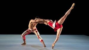 A dance with two worlds: Richard Villaverde and Skyler Lubin in Katarzyna Skarpetowska's 'Off the Canvas.' (Photo by Vikki Sloviter.)