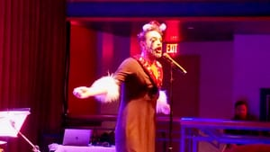 She's just a dead Frenchwoman: John Jarboe as Edith Piaf in 'All I Want for Christmas is a Dead Chanteuse.' (Photo by Kristin Ross.)