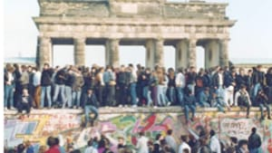 A civilian army scales the wall, November 1989: Not a shot was fired.
