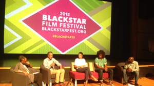 Panelists (from left): Parkerson, Massiah, Cabral, Nance, Jackson; did Ferguson change everything? (Photo: Alaina Mabaso.)
