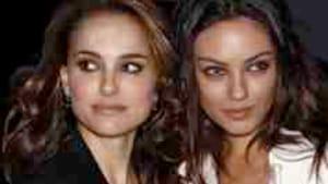 Portman (left), Kunis: The image a dancer fears most.