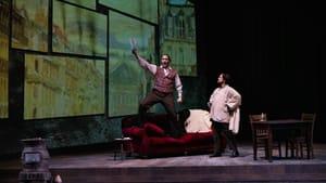 Painted-on antics: Evan LeRoy Johnson and Troy Cook in Opera Philadelphia's 'La Bohème.' (Photo by Steve Pisano for Opera Philadelphia.)