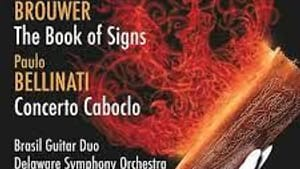 This world-premiere recording from DSO and Brasil Guitar Duo is a gorgeous combo of guitar and orchestra. (Image courtesy of Naxos Records.)
