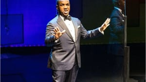 Spreading interpretive wings: Lawrence Brownlee performs in the inaugural offering from the Opera Philadelphia Channel. (Photo by Dominic M. Mercier.)