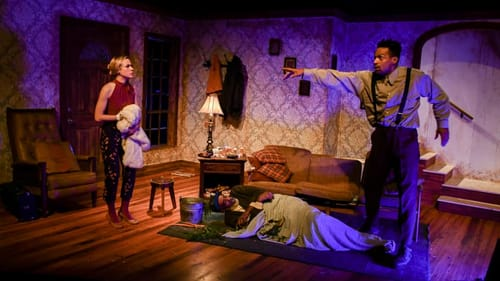 Not meant to be a knee-slapper: Damien J Wallace, Merci Lyons-Cox, and Carlo Campbell in EgoPo's 'Buried Child.' (Photo by Kyle Westerbeck.)