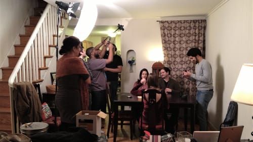 After filmmaking 101: Kyle on the set of his 2013 production 'Candles.' (Photo courtesy of the author.)