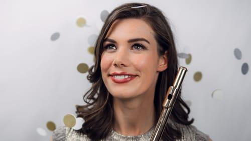 A magical music sensibility: Flutist Chelsea Knox. (Photo courtesy of Princeton Symphony Orchestra.)