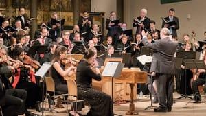 Choral Arts Philadelphia, the Philadelphia Bach Collegium,and artistic director/conductor Matthew Glandorf. (Photo by Sharon Torello)