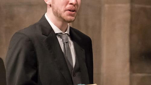 Tenor James Reese, who debuted in the role of Evangelist in this performance. (Photo by Sharon Torello)