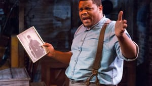 A powerful presence: Nichalas L. Parker as the Narrator in 'Civil War Voices.' (Photo by Mark Garvin.)