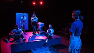 What can we learn from kids these days? The ensemble of 'Click' at Simpatico. (Photo by Daniel Kontz.)