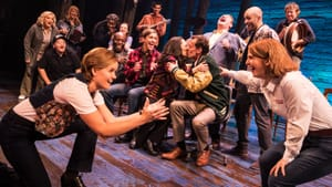 Uncompromising in its joy, despite tragedy: the ensemble of 'Come From Away.' (Photo by Matthew Murphy.)