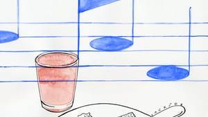 Grapefruit juice and goetta. (Illustration for <em>BSR</em> by Mike Jackson of alrightmike.com)
