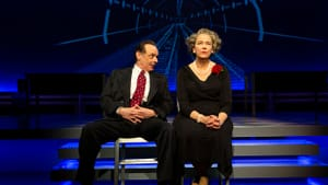 Senator McCarthy and Margaret Chase Smith, the woman who rebuked him first: Lee Sellars and Harriet Harris in George Street's 'Conscience.' (Photo by T. Charles Erickson.)