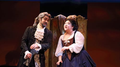 Top vocal honors: Mezzo Alice Chung, with bass Brent Michael Smith. (Photo by Don Valentino.)