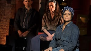 Getting us wise to Marc Blitzstein: 'Cradle' cast members Tony Yazbeck, Lara Pulver, and Rema Webb. (Photo by Joan Marcus.)