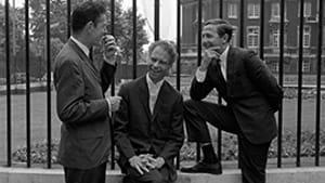 Genius collaborators: composer John Cage, dancer/choreographer Merce Cunningham, and artist Robert Rauschenberg. (Photo © Douglas Jeffrey; courtesy of Magnolia Pictures.)