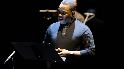 Tenor Lawrence Brownlee, who also wrote some of the lyrics, performs 'Cycles of My Being.' (Photo by Dominic M. Mercier.)