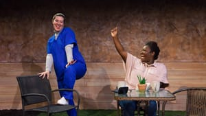 What happens when a parent's return to work is less than glamorous? Brandi Burgess and Angelica Jackson in 'Cry It Out.' (Photo by Daniel Kontz.)