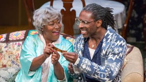 Finding heart and humor in living with dementia: Natalie Carter and André Ward in 'Dot.' (Photo by Mark Garvin.)