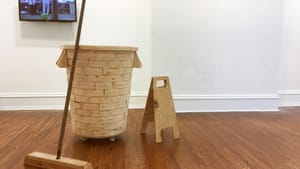 Richness and dignity in janitorial work: pieces in wood by Lucia Garzón. (Photo courtesy of DVAA.)