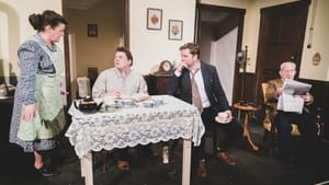 Death is no impediment to this family reunion: Mary Pat Walsh, Oliver Donahue, Dan McGlaughlin, and John Cannon in 'Da.' (Photo courtesy of Irish Heritage Theatre.)