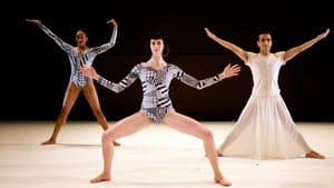 Dance Heginbotham's 'Twin' favored stark, mechanical elements. (Photo by Amber Star Merkens.)