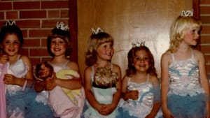 Loving the shiny costume: Melissa Strong (second from the right) at her first dance recital, in 1981. (Image courtesy of the author.)